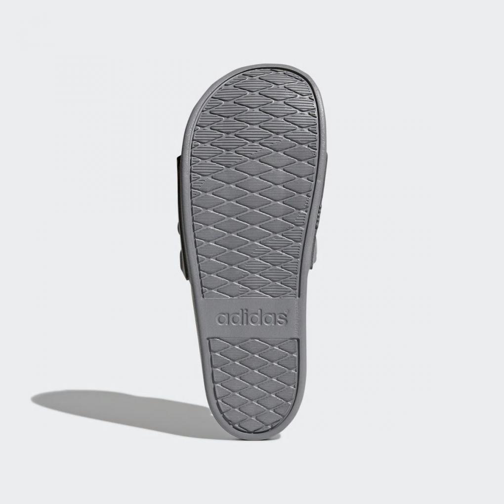 huge discount 872f2 d7758 Adidas Essentials   Homme Femme Sandale adilette Cloudfoam Plus Mono Gris