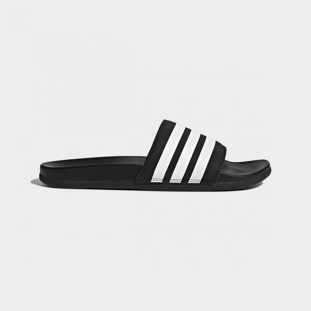 Adidas Essentials | HommeFemme Sandale Adilette Cloudfoam Plus Stripes Noir – Ujene