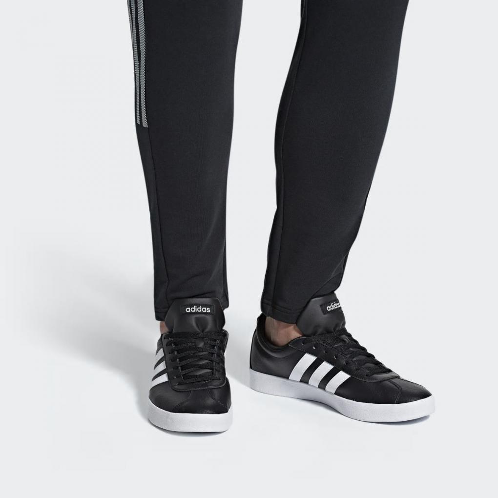 adidas vl court femme noir