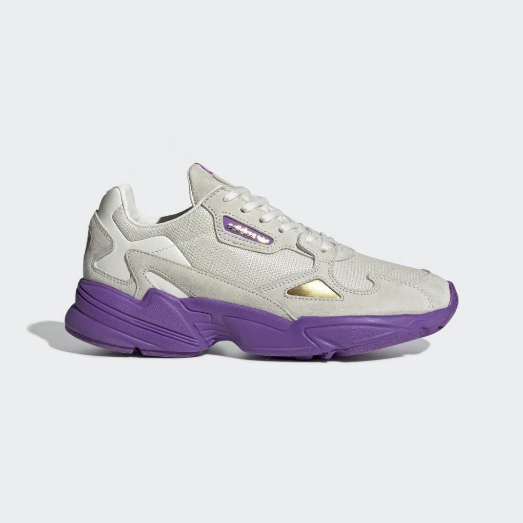 adidas falcon femme violet