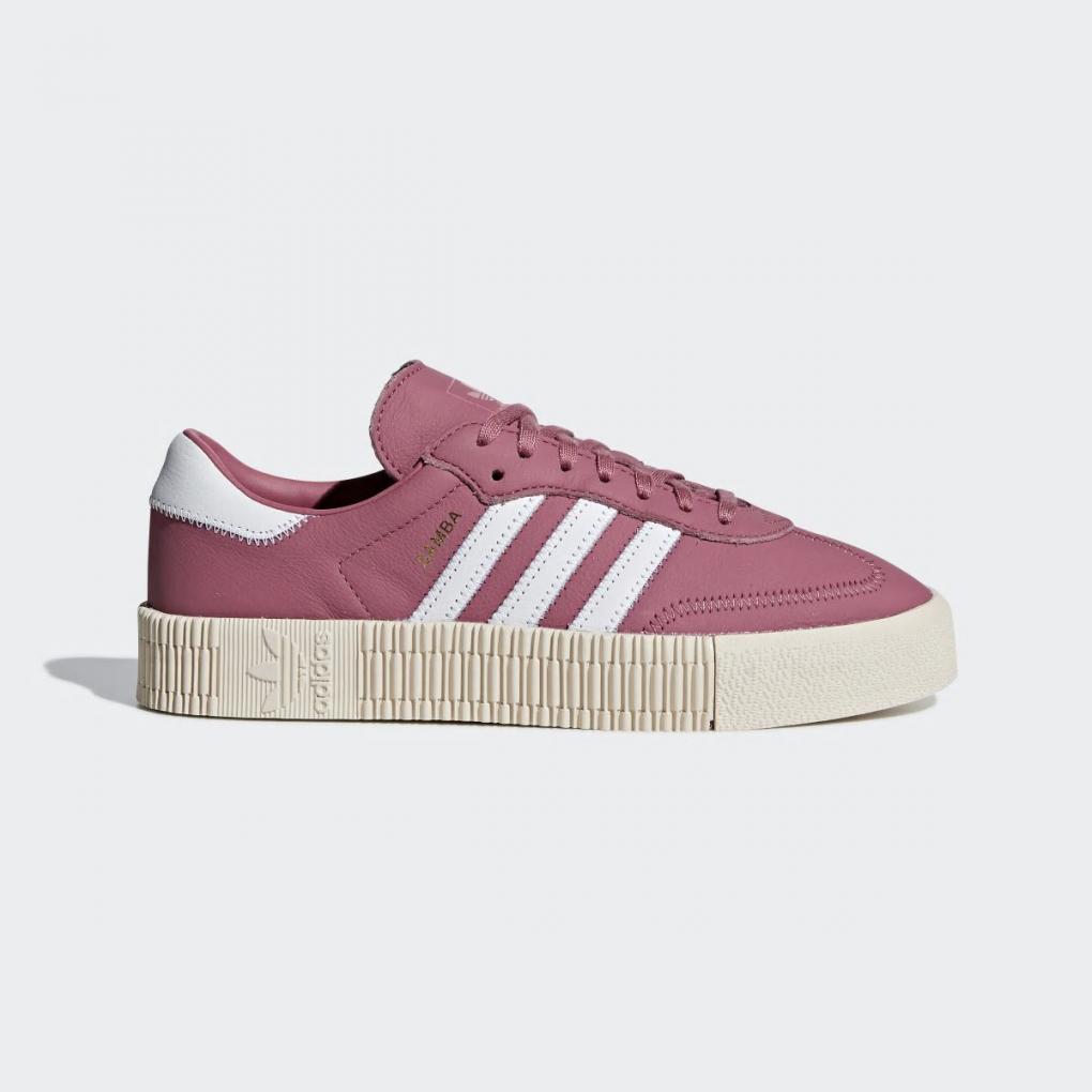adidas samba rose rouge