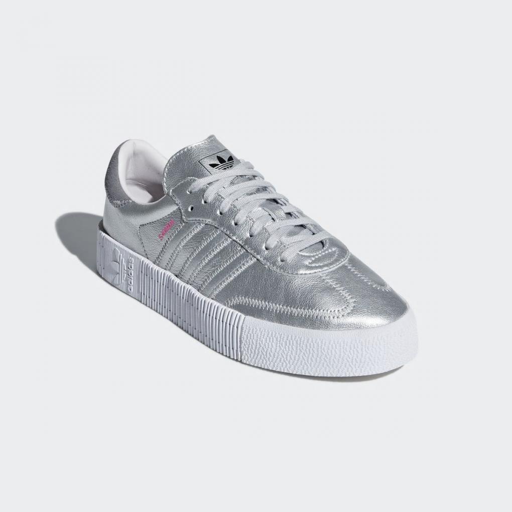 Adidas Originals   Femme SAMBAROSE Shoes Argent – Ujene