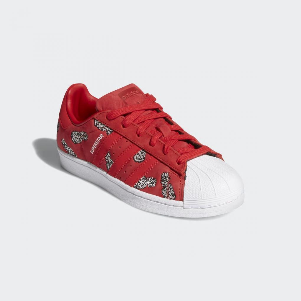 adidas femme superstar rouge