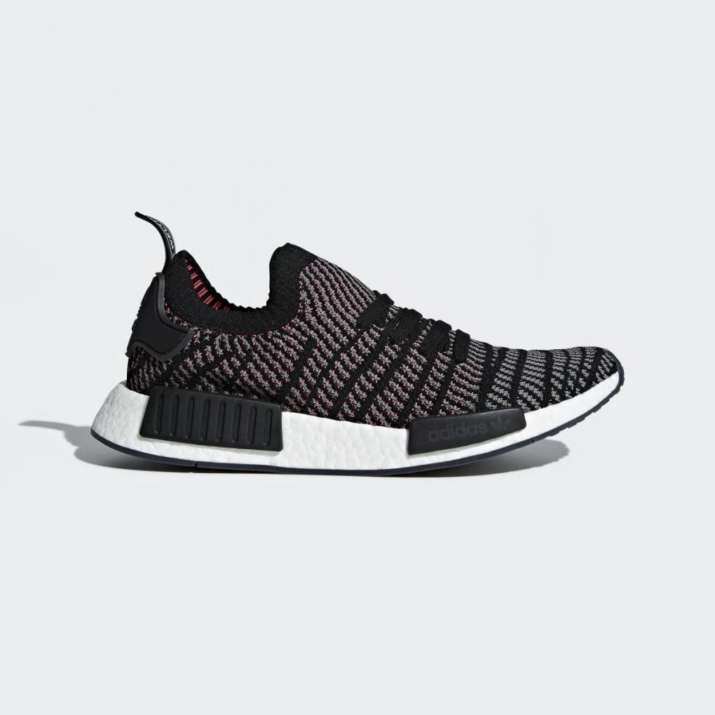 Adidas Originals   HommeFemme NMD_R1 STLT Primeknit Noir – Ujene