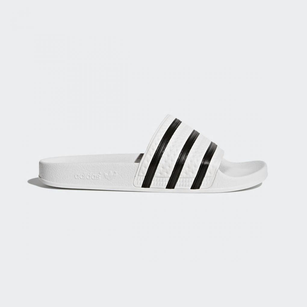 Adidas Originals   HommeFemme Sandales adilette Blanc – Ujene