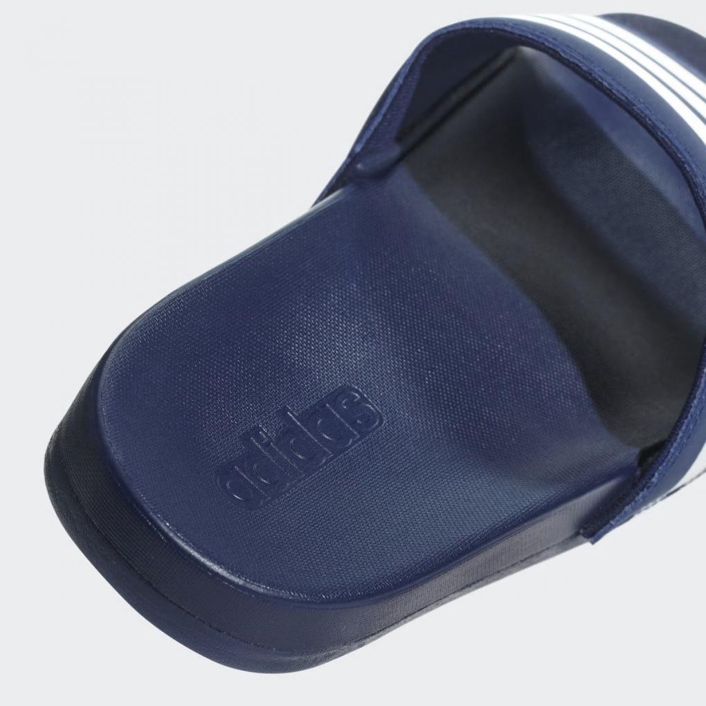 Adidas Sandales et Tongs   HommeFemme Sandale Adilette Cloudfoam Plus Stripes Bleu – Ujene