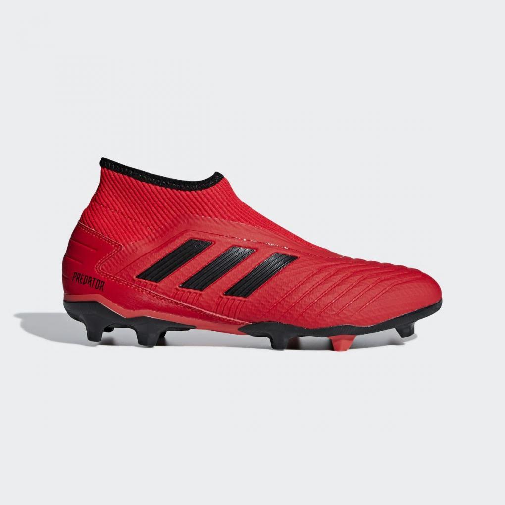 Adidas Football | Homme Predator 19.3 Laceless Terrain souple Rouge – Ujene